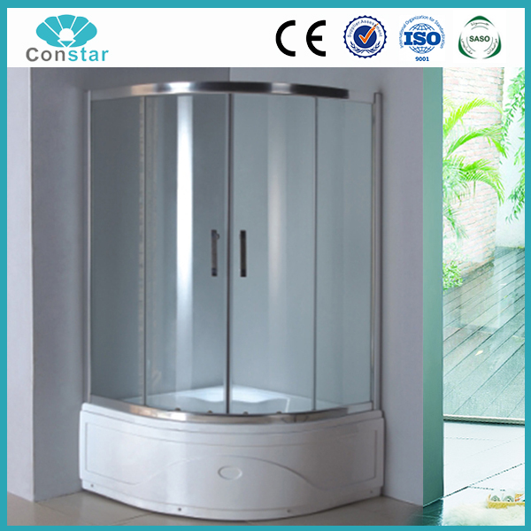 Tempered Glass shower screen ventilation fans pivot shower cabin