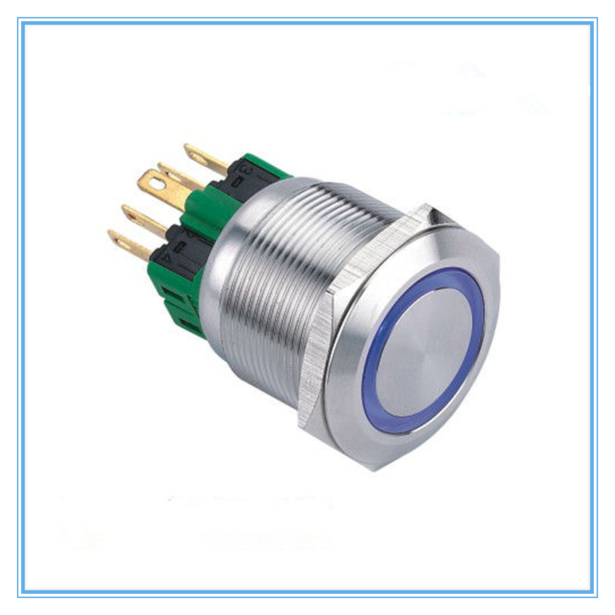 upun 16mm 19mm 22mm 25mm 6V - 220V IP67 metal flush push button pushbutton switch