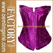 Wholesale Price Corset Purple Strapless Overbust Corset