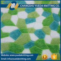 3D Glue Printed Coral Fleece Fabric Football Pattern for Carpets