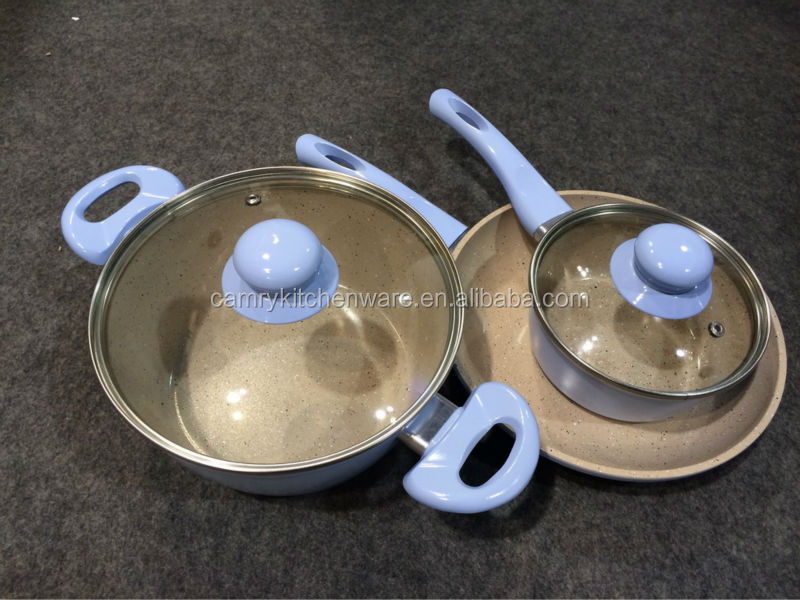 Forged Aluminum White Ceramic Cookware