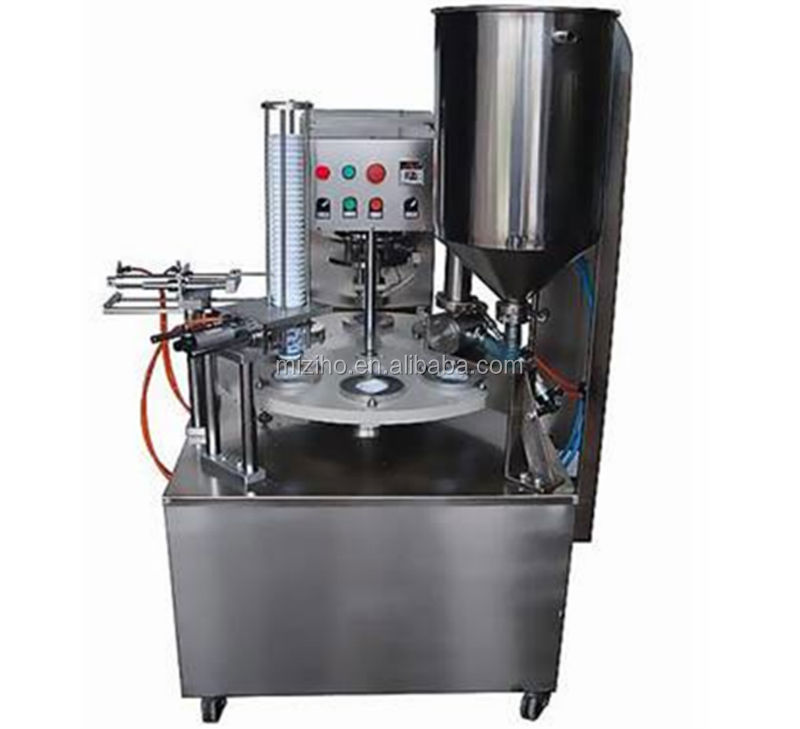 MZH-SL900 ROTRAY TYPE CUP FILLING AND SEALING MACHINE