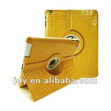 Yellow Crocodile New iPad 3, 2 Smart Cover Case 360 rotating stand for iPad 3, 2