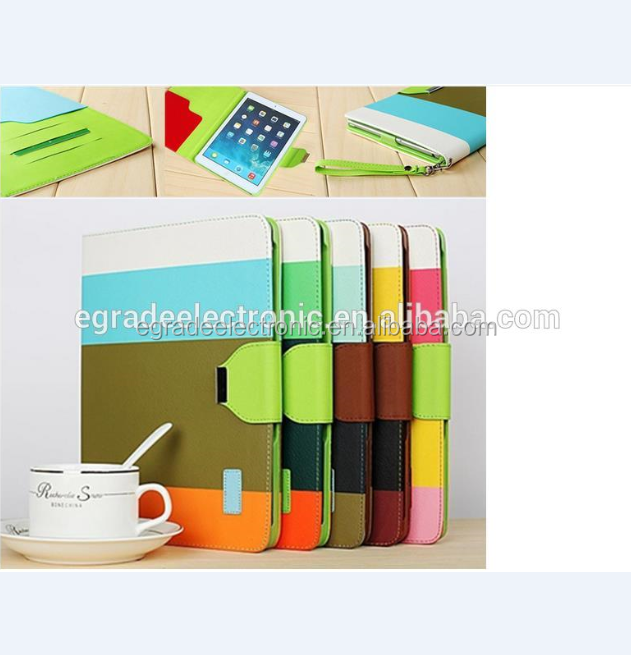 Good Quality Pouch Leather Case with Stand Mixed Colors Flip Leather Case Cover for iPad Mini /2