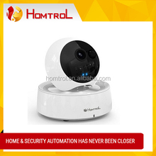 Homtrol Wi-Fi Video Monitoring Camera with 2way talk (White) and Temperature cum Humidity Sensor and Alarm