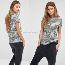 New Design Look Pastel Camo T-Shirt for Sport Patterns Girls Wear New York T Shirts Wholesale Custom Clothing OEM