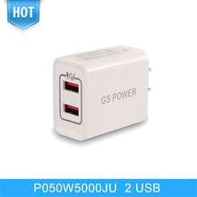 High Quality New Design PSE Approved 5V5.0A 2 Dual Usb Ports Go Pro Golf Trolley Charger For Power Bank