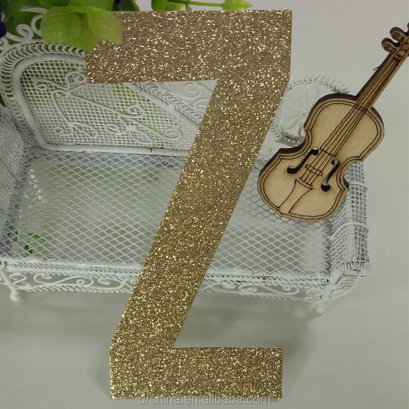 "Hot sale glitter paper letters ""Z"" Decor Birthday Party, New Year,Craft"