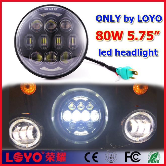 "Only made by LOYO 5.75 inch 5.75"" round led for motorcycle daymaker headlight for harley"