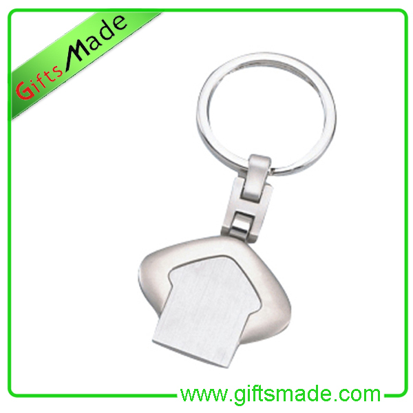 Dye Sublimation Metal Ornaments Customized Metal Keychain