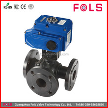 industry control water on off flange 3 way electric ball valve buyer