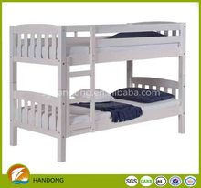 Japan Stylish Simple Kids Natural Solid Wood Folding Bunk Bed