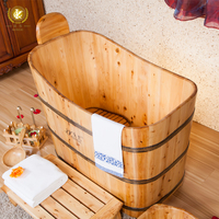 hotsale square soaking bath tub, Cedar bath crock,deep bathroom tubs for soaking