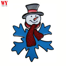 Christmas cute window epoxy sticker X'mas Snowman with Snowflake Decoration