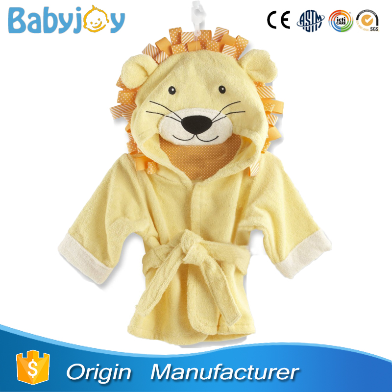 terrycloth animal hooded bathrobe, baby bath robe