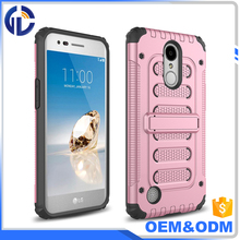Cheap Wholesale Phones Case Cover For LG LV5/K10 2017 Armor Hybrid Hard Kickstand Shockproof case