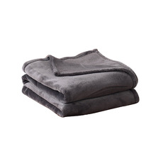 "Luxury Oversized Flannel Velvet Plush Throw Blanket 50"" x 70"" (Grey)"