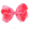 Hot Quality Solid Color Lace Hair Bow JOJO Hair Bow For Girl