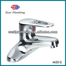 Two Hole Deck Mounted Single Ring Headle Tap Chrome Bathroom Faucet M23-2