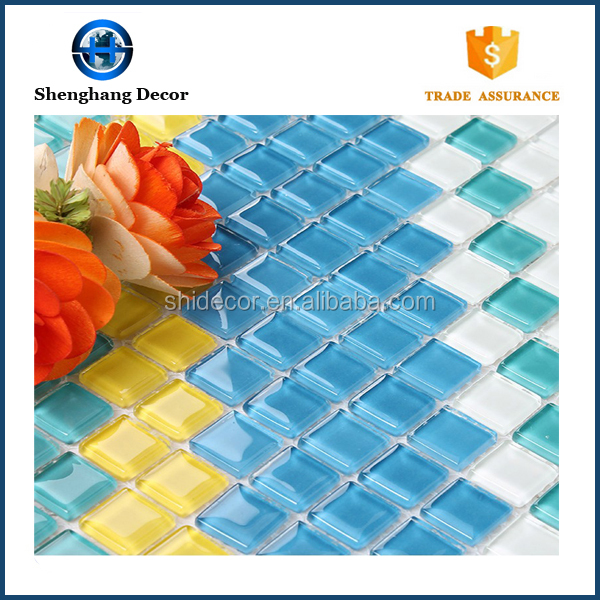 Mosaic tile new design crystal glass mosaic tile mosaic mural