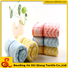 100% cotton new products jacquard border towels textile wholesale on china market
