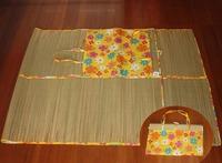 Folding camping straw beach mat
