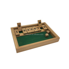 Adult high quality custom shut the box wooden board game