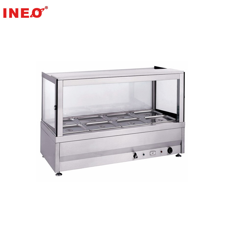 Restaurant Commercial Stainless Steel 8 Pan Hot Food Display/Hot Food Warmer Bain Marie