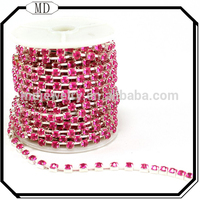 Wholesale High Quality Rhinestone Roll Cup Chain In Roll,Rhinestone Cup Chain