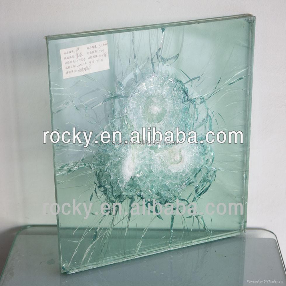 bullet proof glass sell 21mm 19mm 20mm ak47 safety glass for bank bullet proof