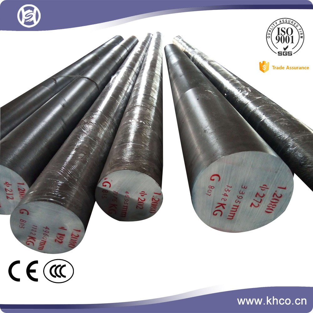 Cold work turning alloy round bar tool steel 1.2080