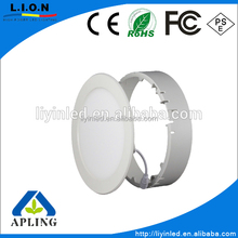 Fancy design 6W 12W 18W 24W led panel light / Round recessed surface mounted led flat panel / Aluminum+ABS led panel light