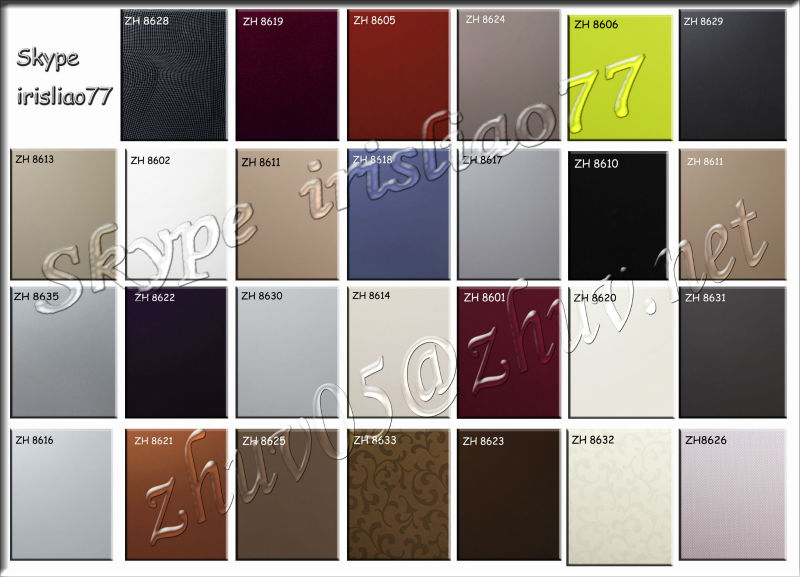 High Glossy Acrylic Mdf Board Solid Color Chart For Kitchen Cabinet