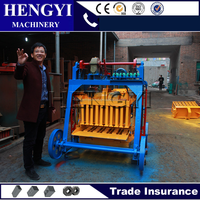 hollow block machineQT4-45/manual compressed earth block machine/cement brick block making machine price