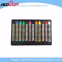Multi Color Non-toxic pencil art coloring crayon set ,wax crayon drawing for kids colour pencil crayon set