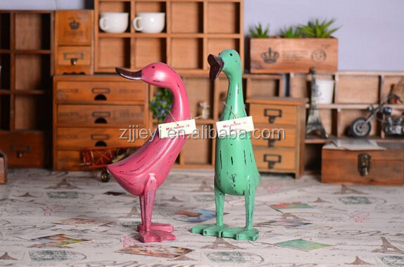 Hot sale christmas craft for adults carved wood standing ducks