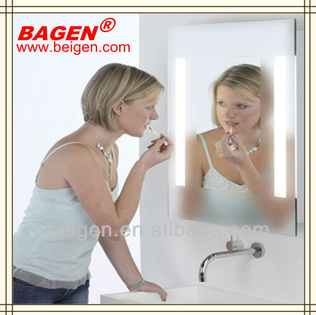 Luxury hotel toilet product fog free mirror, backlit mirror, 16years supply for hotels