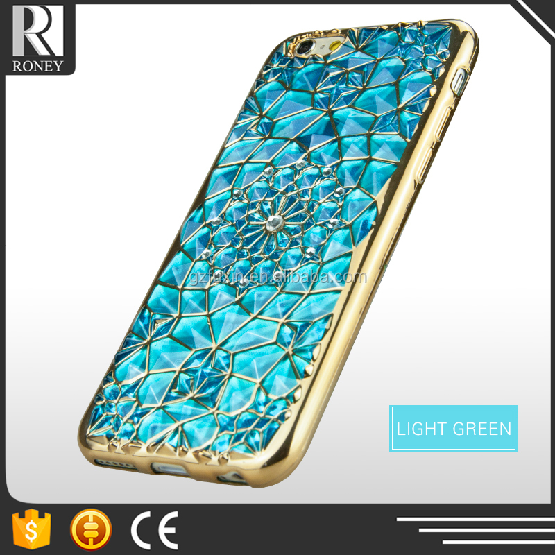 Bling Diamond Sunflower Pattern Cell Phones Smartphones Electroplated TPU Soft Case For Note 5