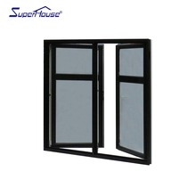 double side hung out swinging casement window with mullion