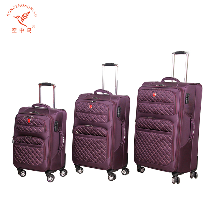 expandable customized travel trolley luggage bag for men