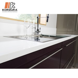 Commercial White bathroom quartz stone sink countertop