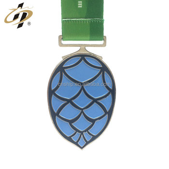 Shiny metal customize soft enamel pineapple sports medals