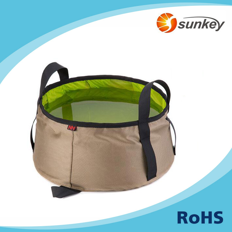 Silicone Utility Foldable Beach Bucket with a Storage Bag