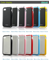 TPU double color phone cases for blackberry Q5