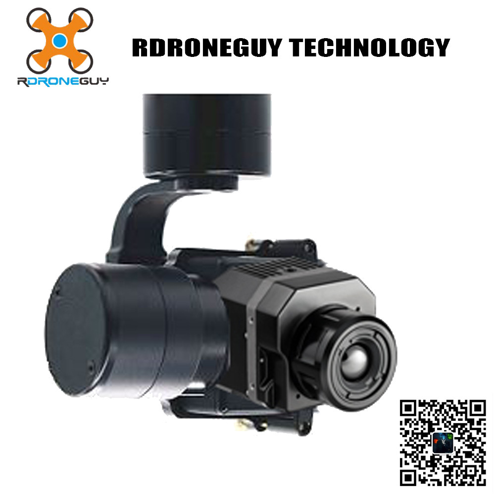 Infrared thermal gimbal camera imager power line inspection drone