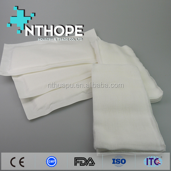disposable bleached non woven sponge medical use