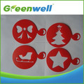 Free sample available Christmas holiday decoration plastic coffee stencils