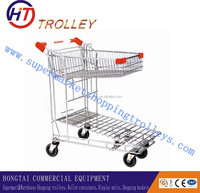 Flatbed Heavy Duty Trolley Airport Luggage Hand Cart on Wheels for Sale