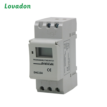 Weekly Programmable Time Switch AC 220V DC Digital Timer Switch In PA System