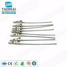 Nickel-plated alligator clip connecting steel wire